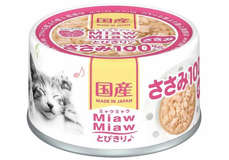 Консервы для кошек AIXIA «MiawMiaw» Tobikiri, куриное филе в нежном желе