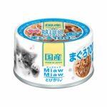 Консервы для кошек AIXIA «MiawMiaw» Tobikiri, тунец и ширасу в нежном желе